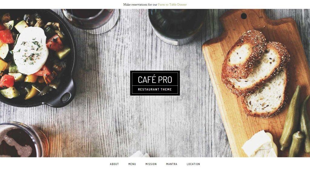 Cafe Pro WordPress Restaurant and Coffee Shop Theme