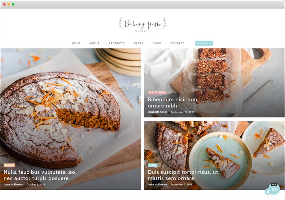 Cake Bakery WordPress Pastry Chef Theme