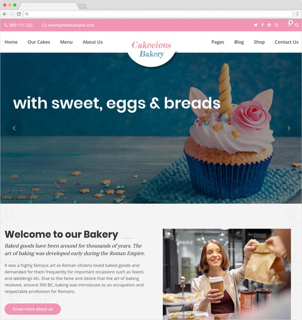 Cakecious WordPress Bakery Food And Ice Cream