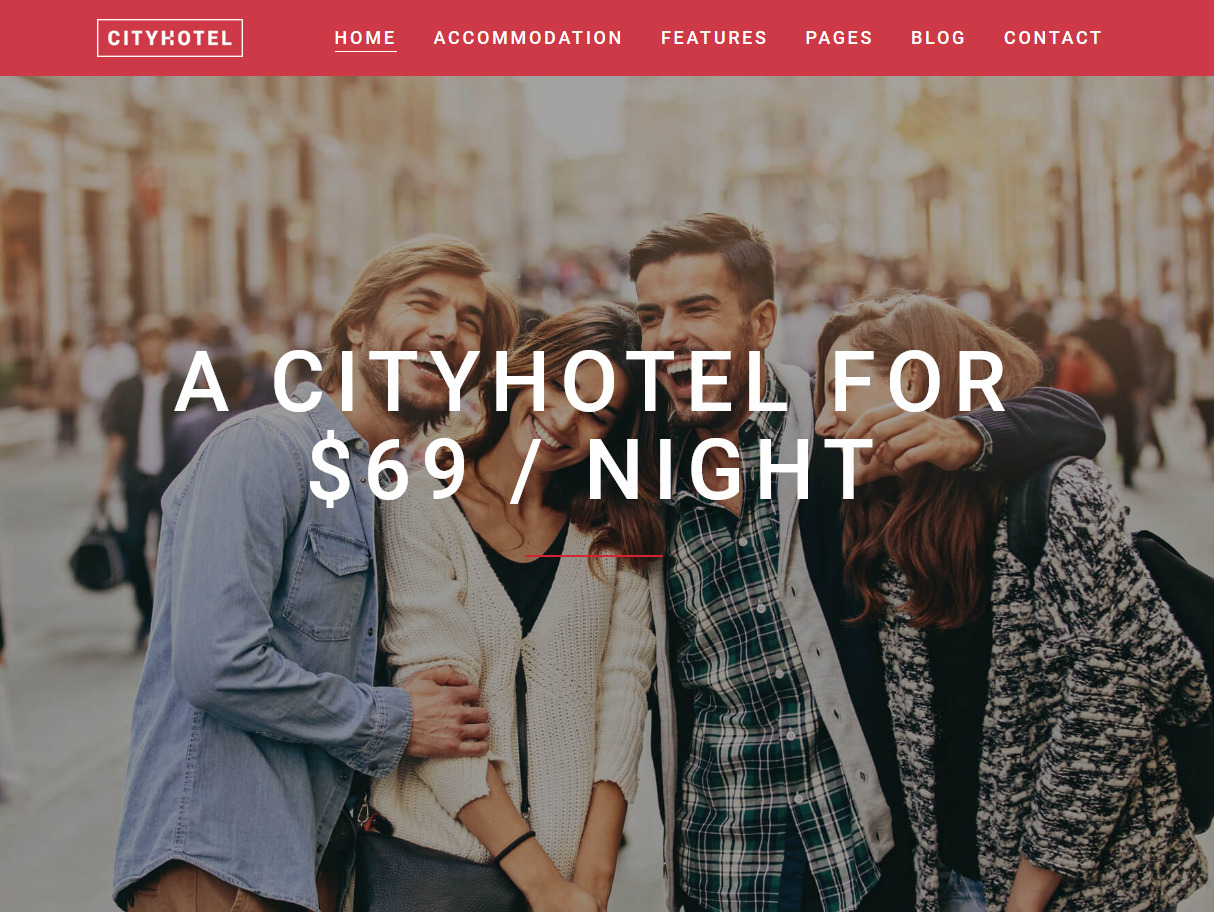 Calluna Hotel Resort WordPress Theme