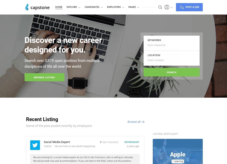 CapStone WordPress Job Board Theme