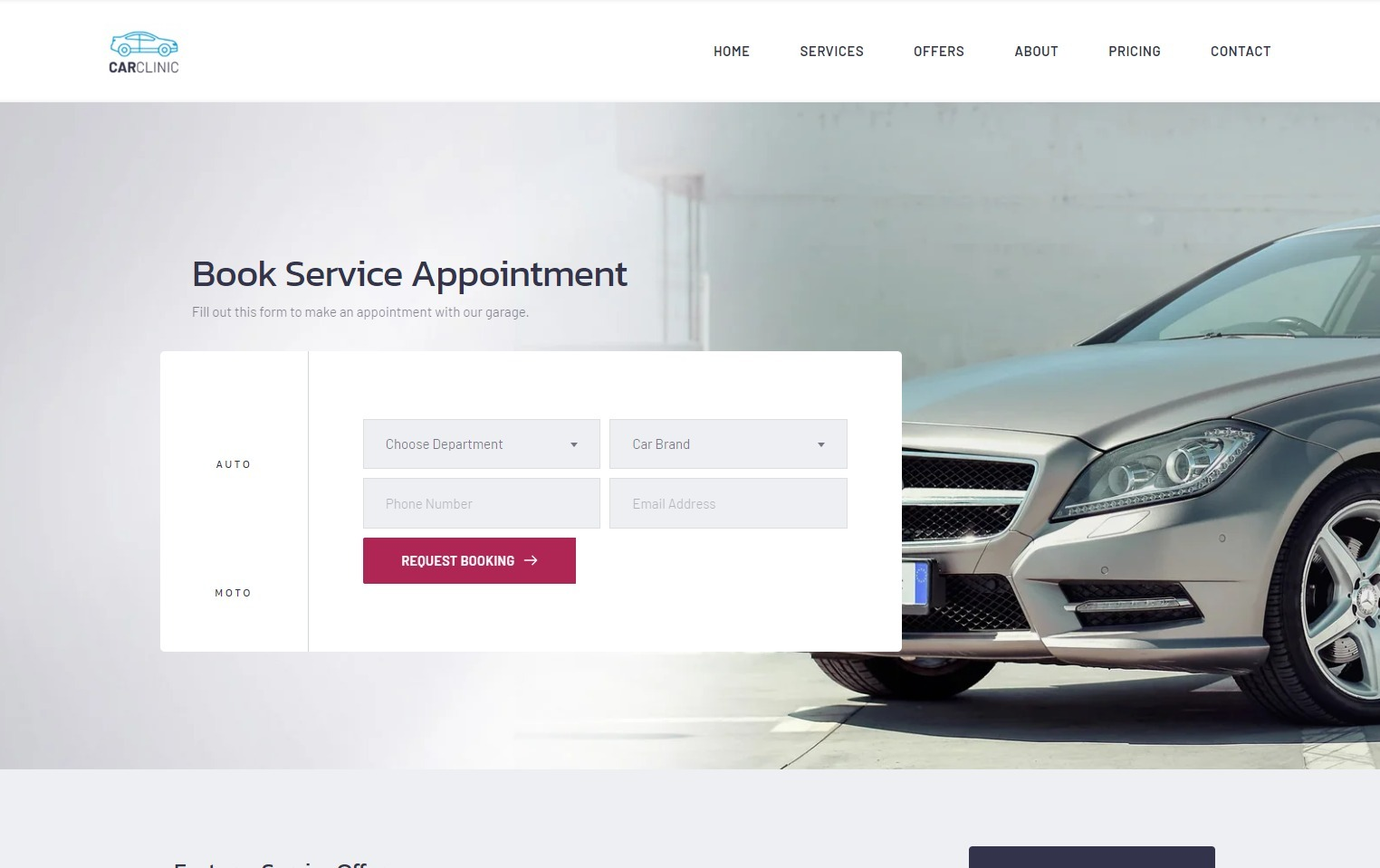 Car Clinic Auto Template for Auto Repairs and Mechanics