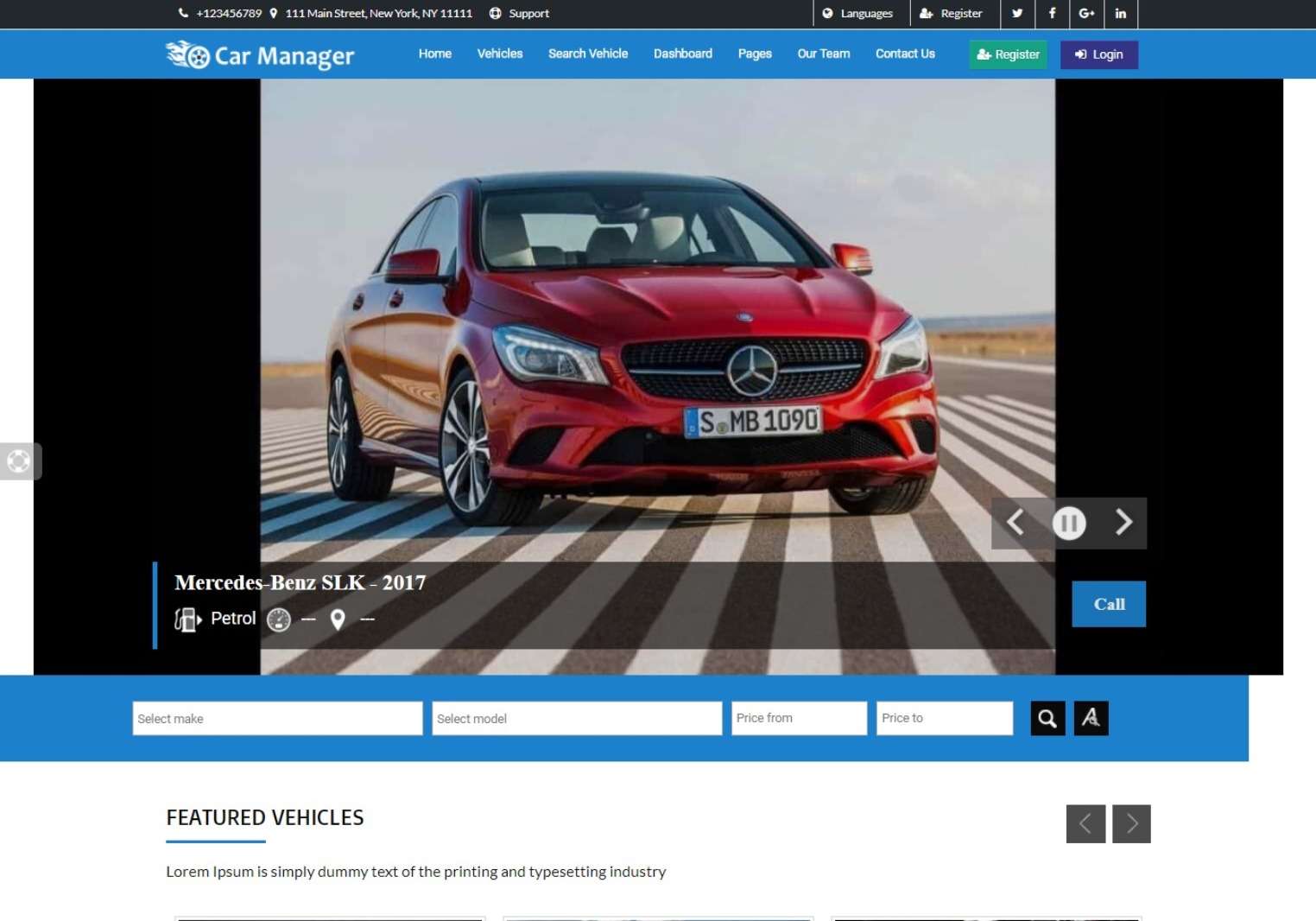 Car Manager Automotive Dealership WordPress Theme