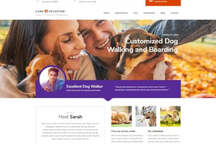 Care Pet Sitting and Dog Walking WordPress Theme