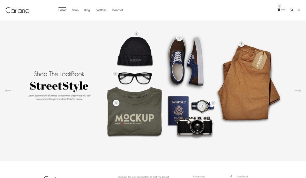 Cariana WooCommerce Lookbook Fashion Theme