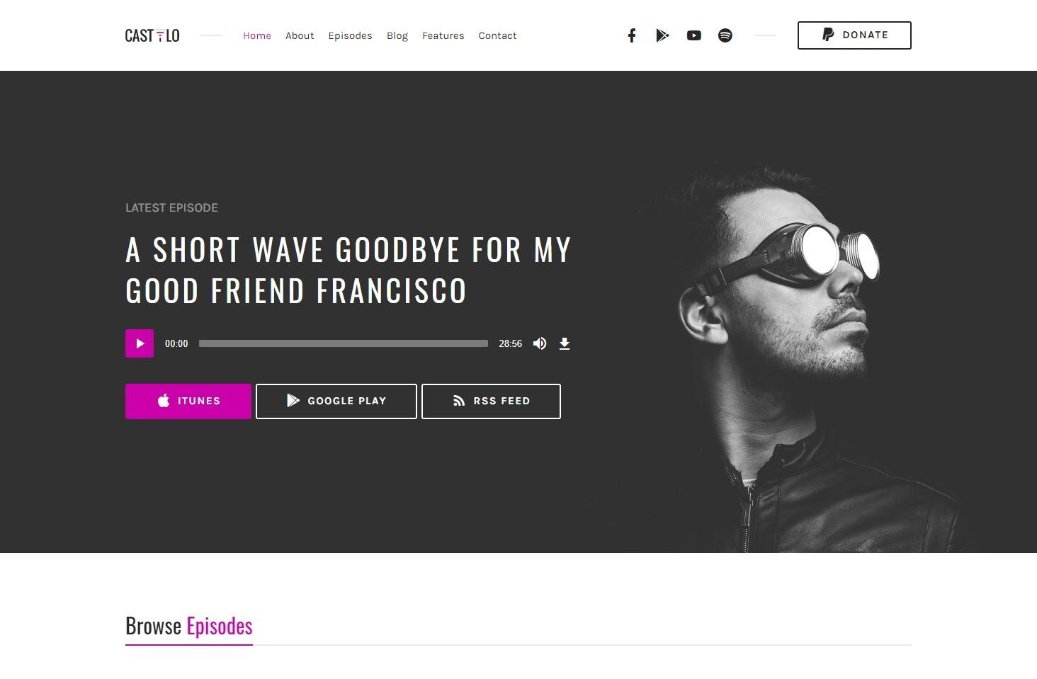 Castilo Podcasting WordPress Theme