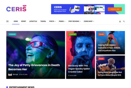 Ceris Magazine Blog WordPress Theme