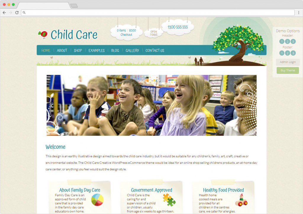 Child Care Creative WordPress Daycare Theme