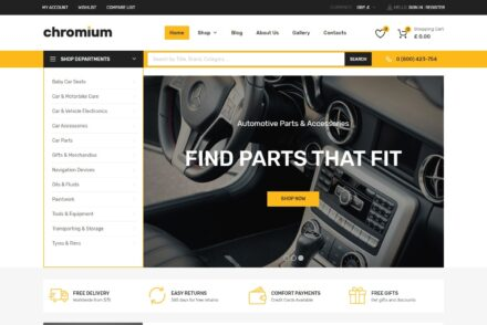 Chromium Auto Parts Marketplace WordPress Theme
