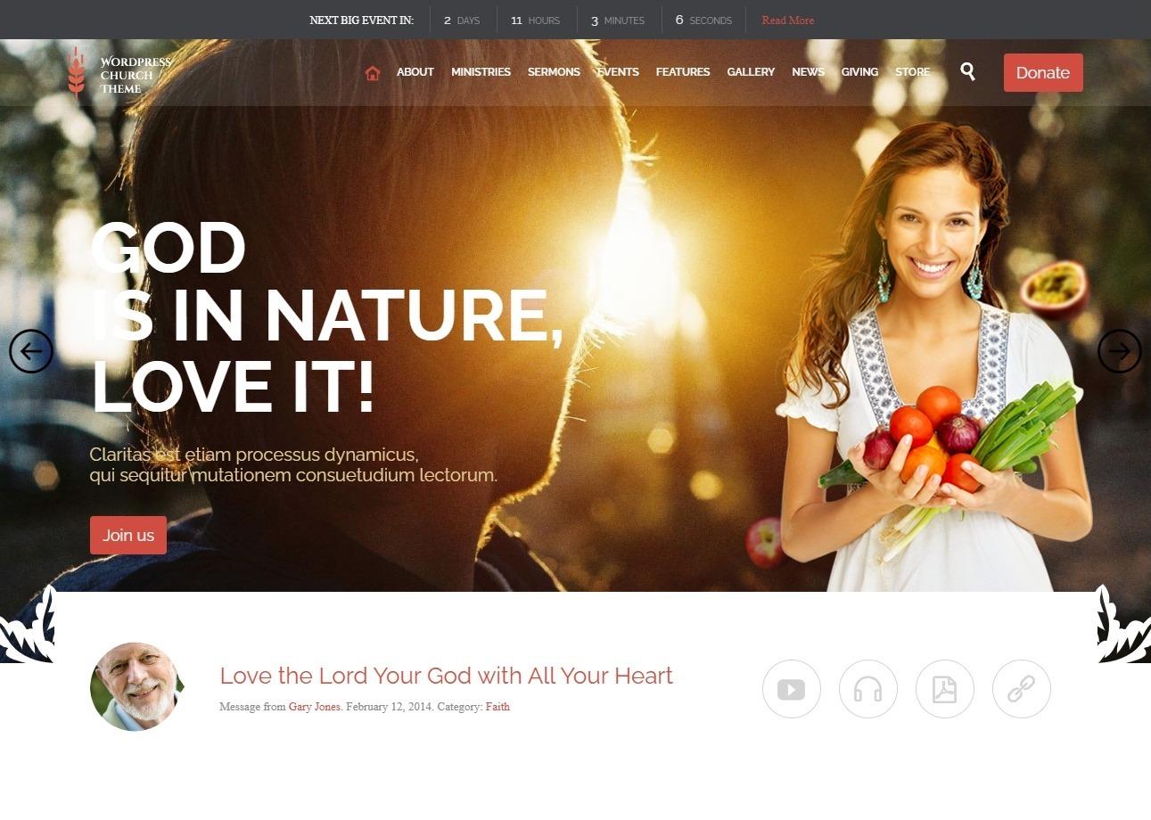 Church Simple Stylish WordPress Theme for Churches