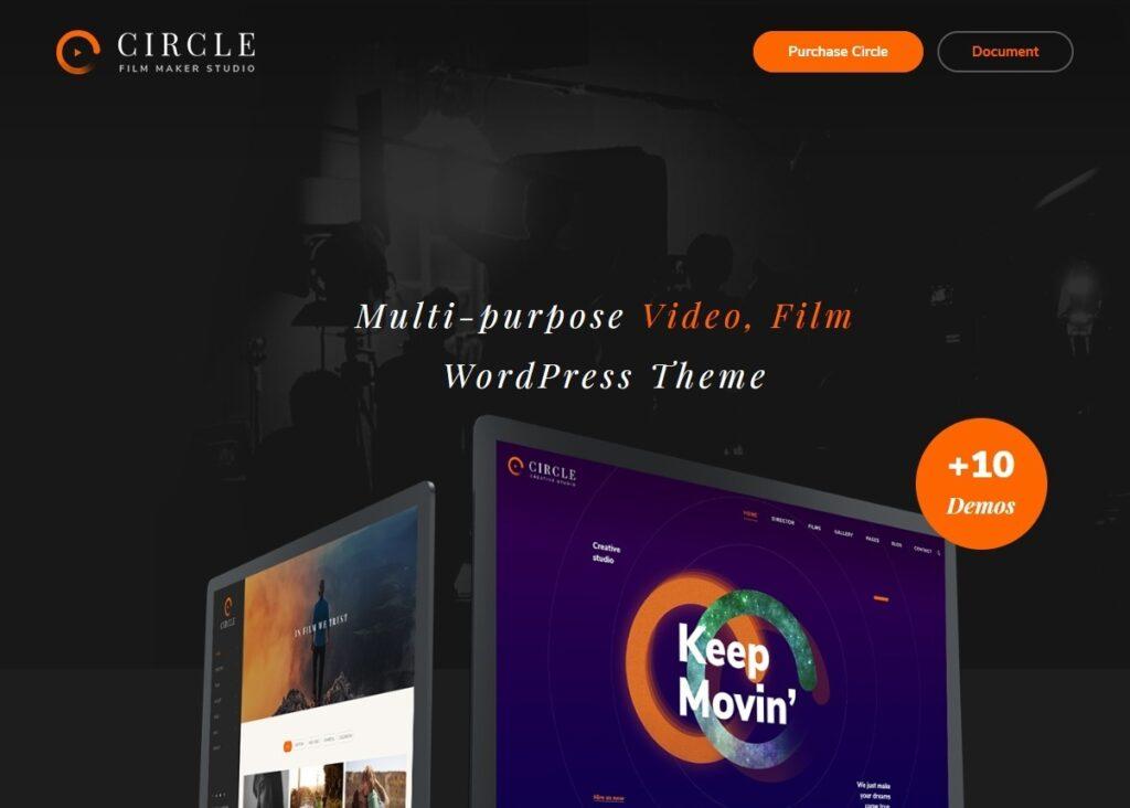 Circle Filmmakers Multimedia Portfolio WordPress Theme
