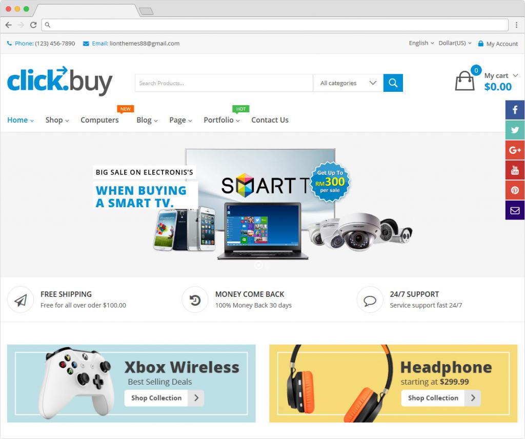 ClickBuy WordPress Corporate Style ECommerce Theme