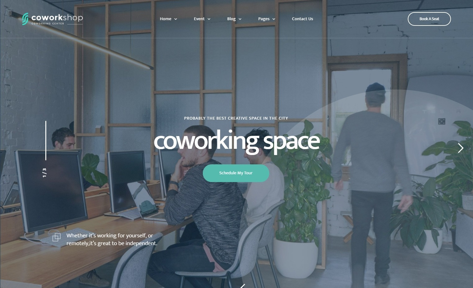 Co Workshop CoWorking Theme for Freelancers and Small Businesses