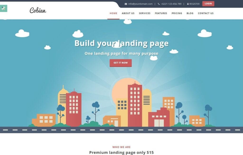 Cobian Flat WordPress Theme