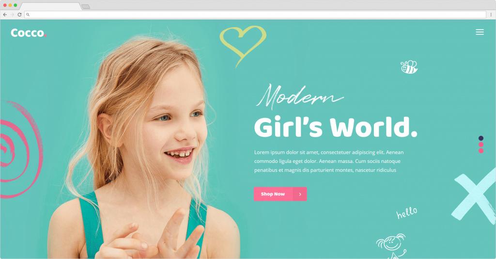Cocco WordPress Childrens ECommerce Theme