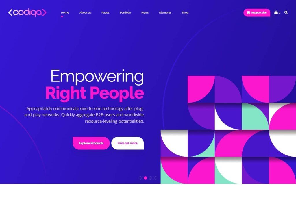 Codiqa Software Team SaaS Theme for WordPress