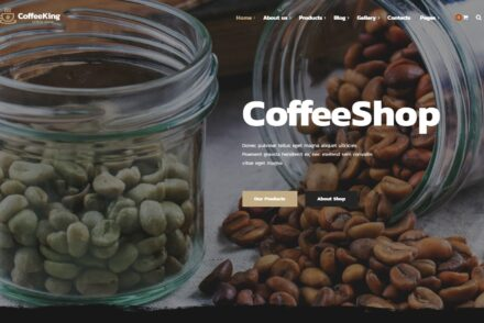 Coffee King Premium Animated Coffee Shop Theme 2