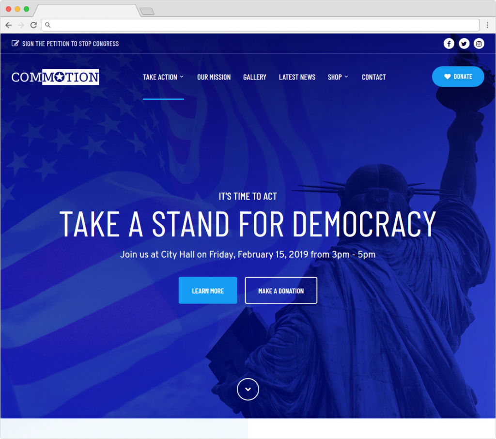 Commotion Political Party And Campaign Theme