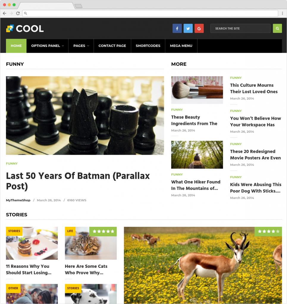 Cool Flat WordPress Magazine Theme