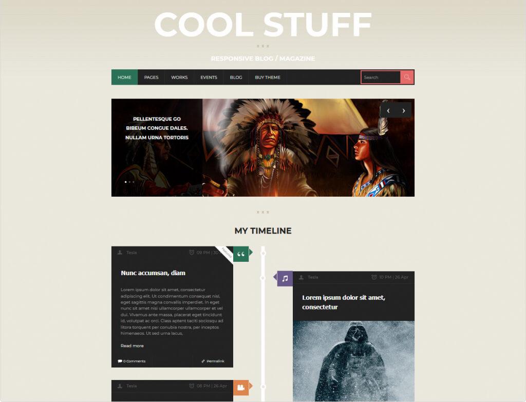 Cool Stuff WordPress Timeline Theme