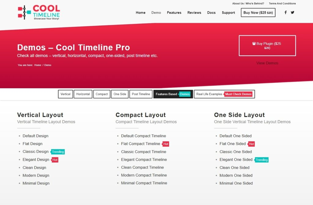 Cool Timeline Pro WordPress Plugin