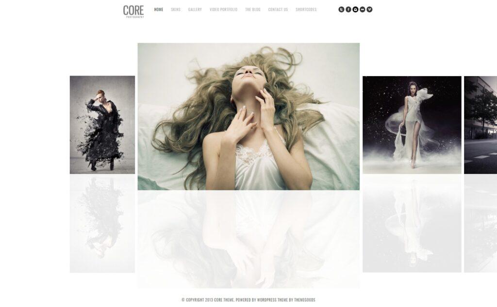 Core Clean Minimalist Photography Portfolio