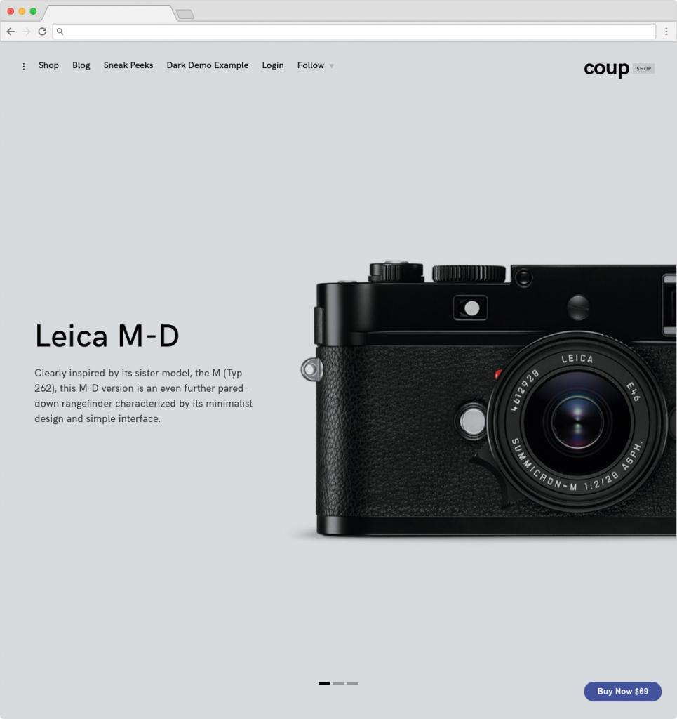 CoupShop Flat Minimalist ECommerce Full Screen Theme