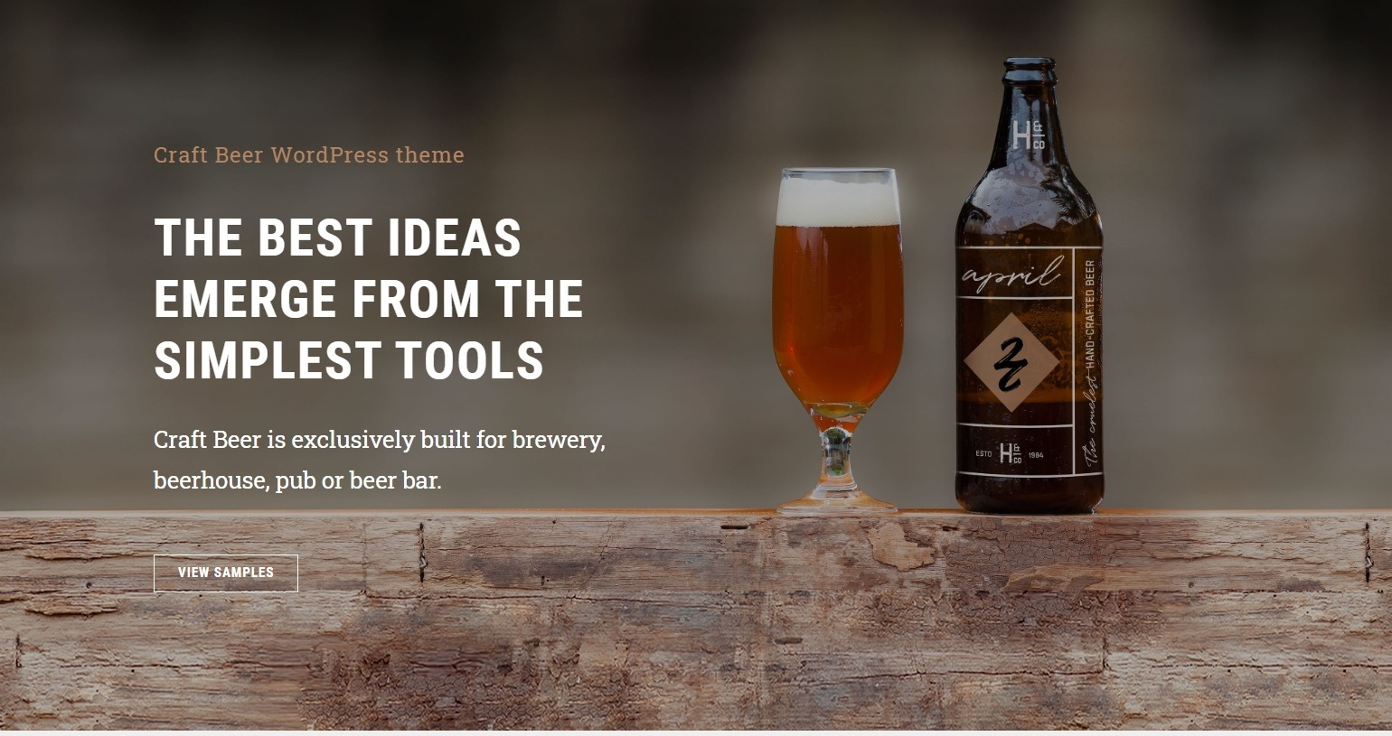 Craft Beer Theme for WordPress Based Brewery Websites