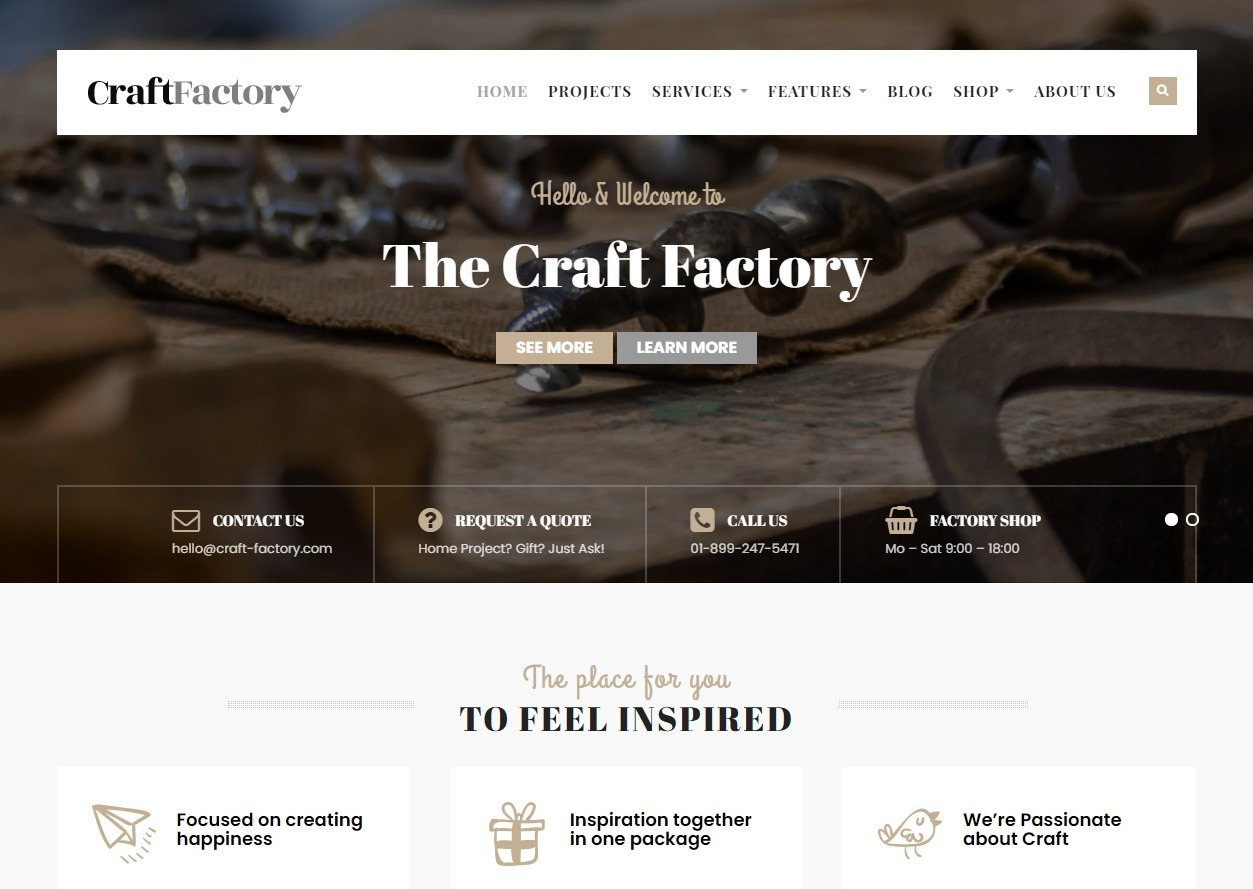 Craft Factory Crafts and Handmade Stuff Theme