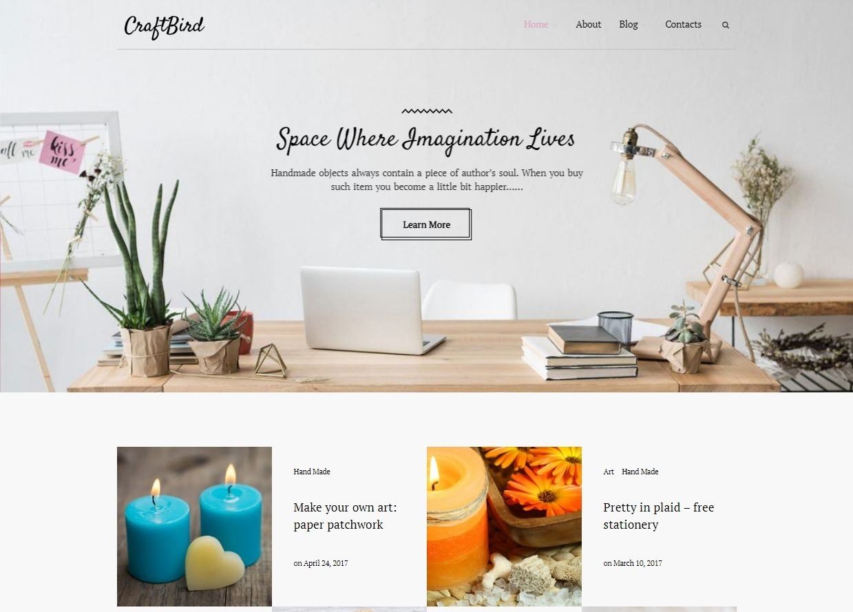 CraftBird Inspirational Theme for Hand Crafted Goods