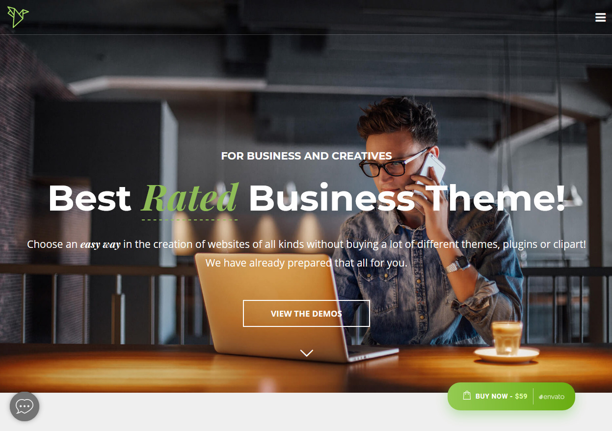 Crane One Page Business Theme