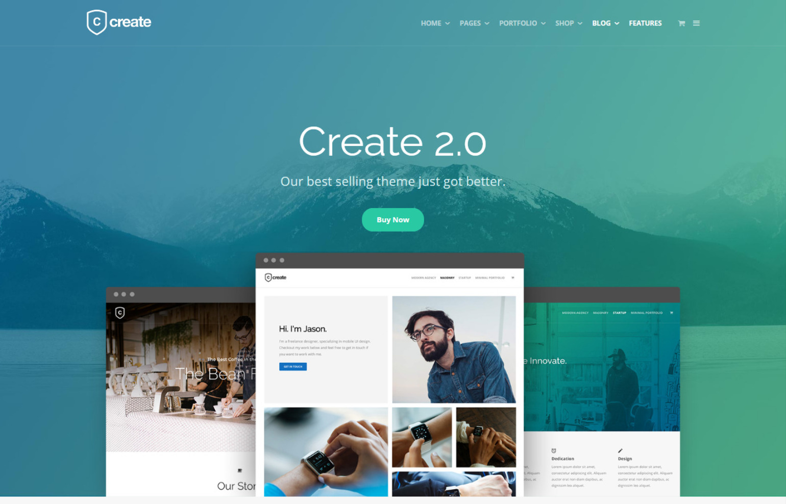 Create Creative Agency WordPress Theme