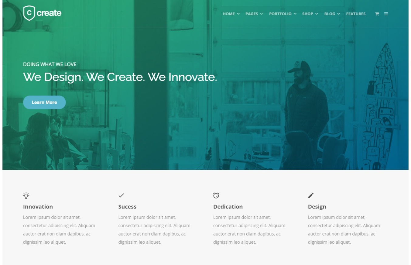 Create WordPress Theme for tech Startup