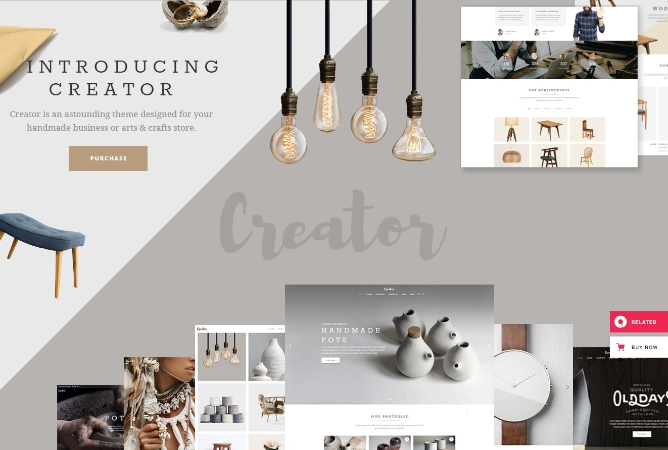 Creator WordPress Theme for Handmade Products