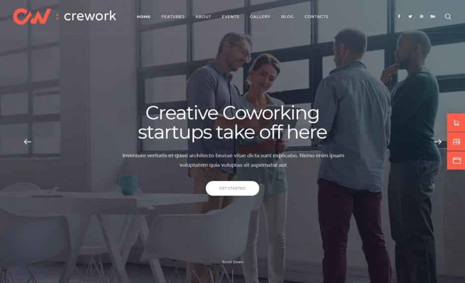 Crework Coworking Agency WordPress Theme