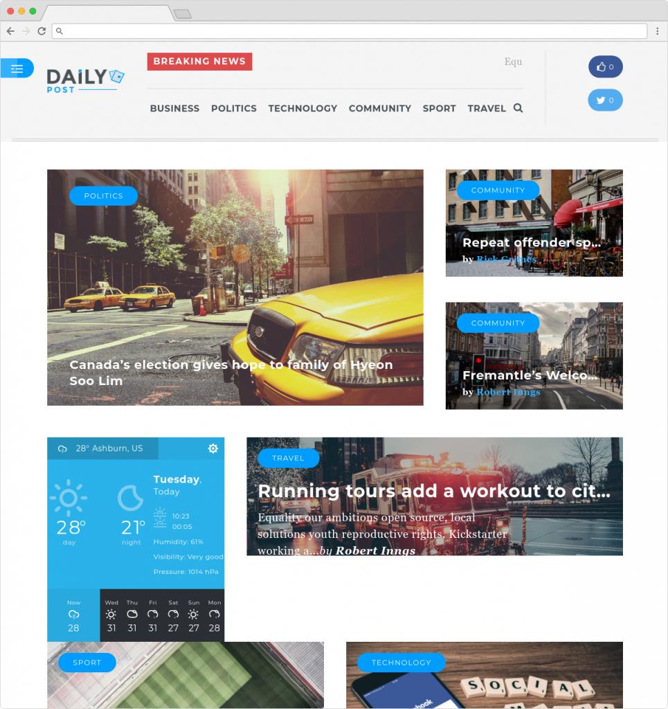 Daily Post Clean WordPress Magazine Theme