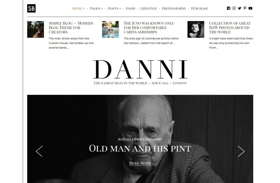 Danni Minimalist WordPress Blog Theme