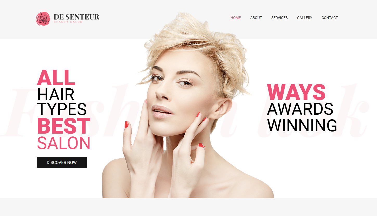 De Senteur WordPress Beauty Salon Theme