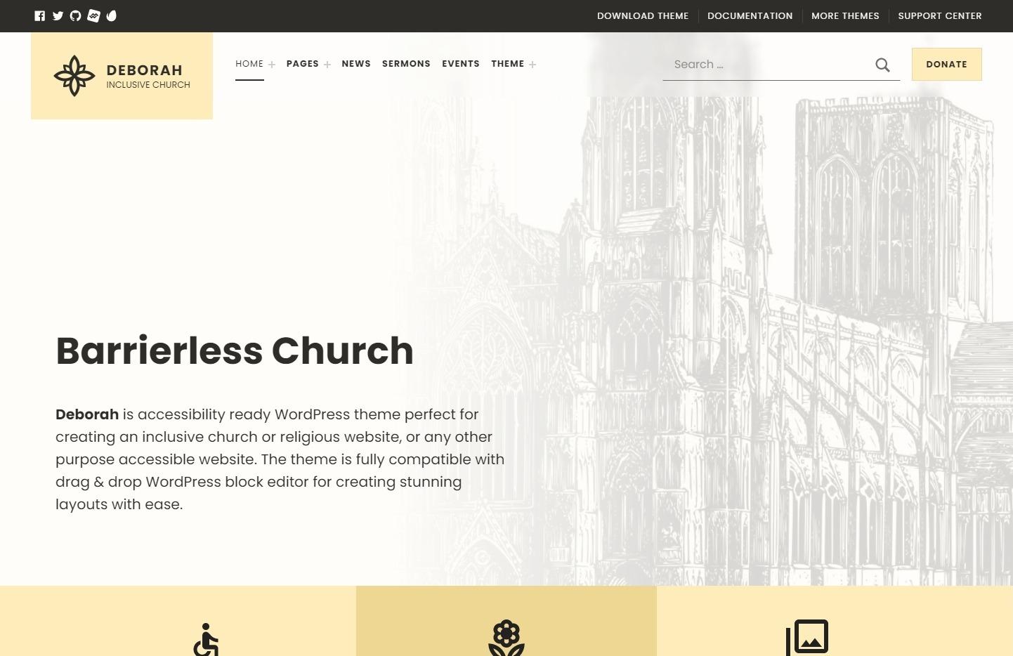 Deborah Inclusive Church WordPress Themes
