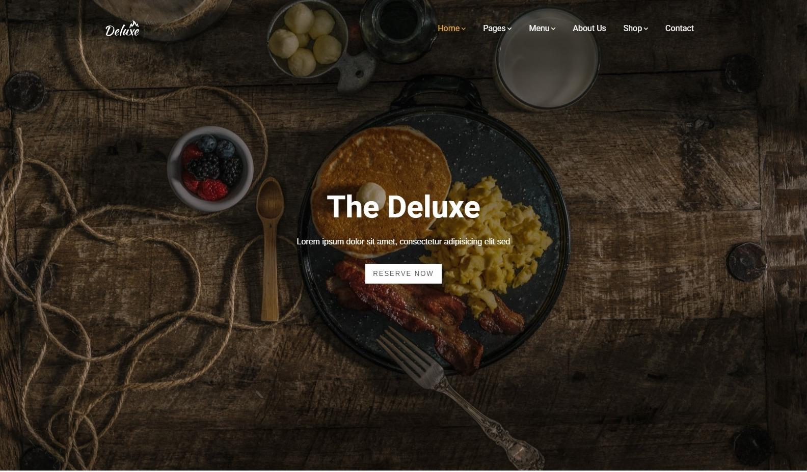 Deluxe Ultra SImple WordPress Theme for Restaurants