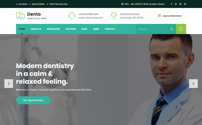 Dento Dental Care WordPress Theme