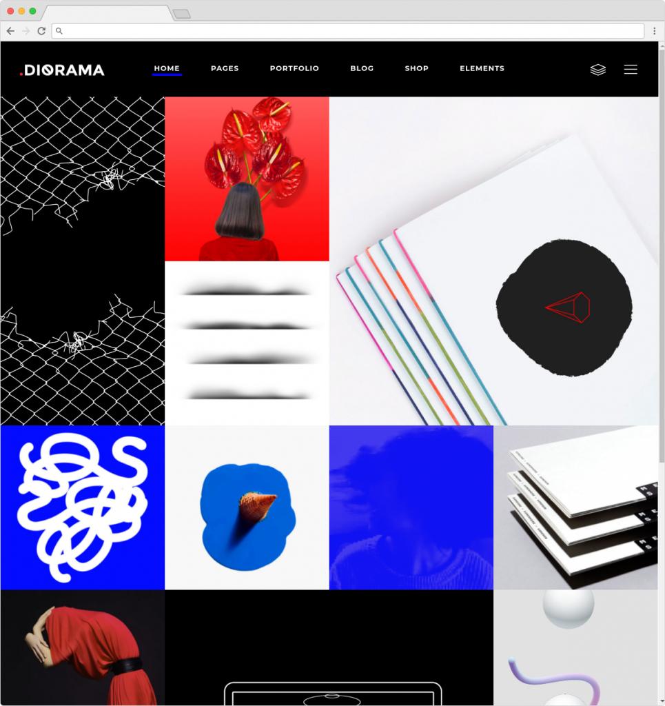 Diorama Metro Style WordPress Portfolio Theme