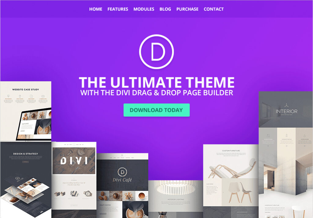 Divi Full Screen WordPress Parallax Theme