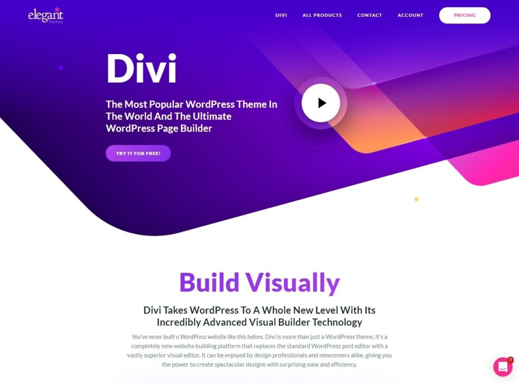 Divi Page Builder Theme with Strong Typography Options