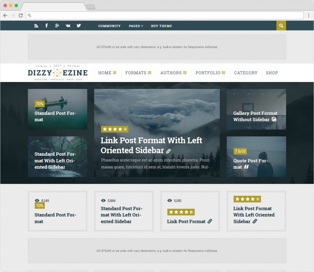 DizzyMag Content Marketing And SEO Friendly Theme