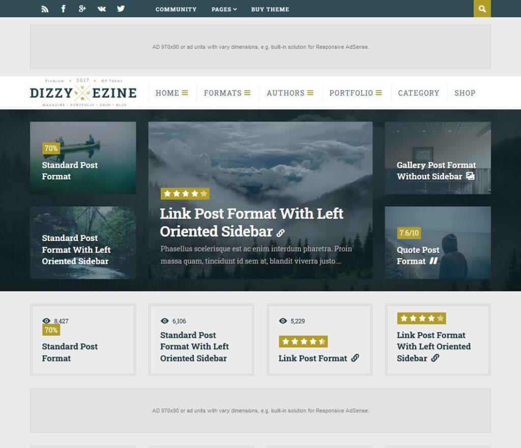 DizzyMag Publsihing Company WordPress Theme