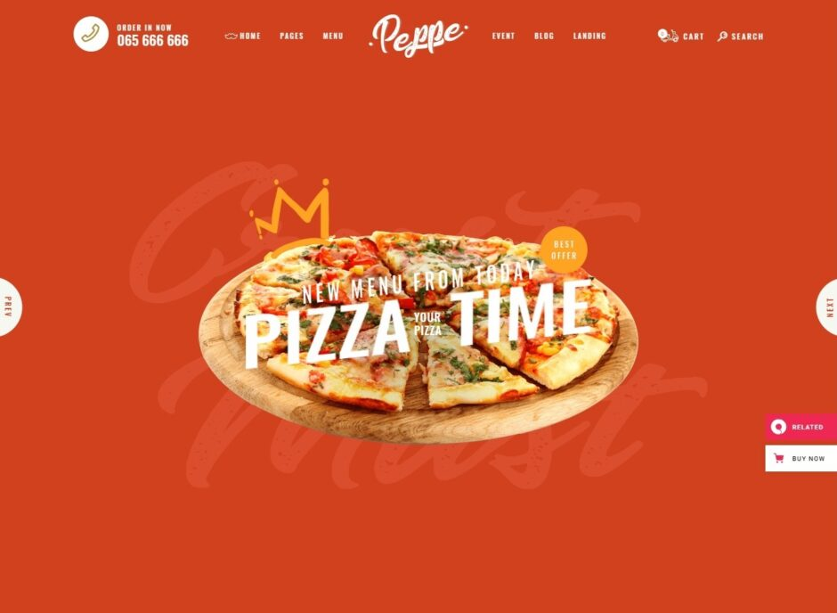 Don Peppe Fast Food Pizza Place WordPress Theme