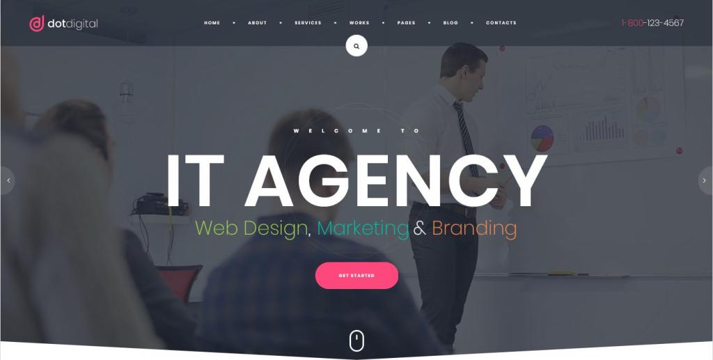 Dot Digital WordPress Internet Marketing Theme