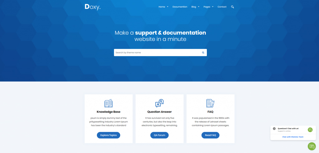 Doxy WordPress Theme