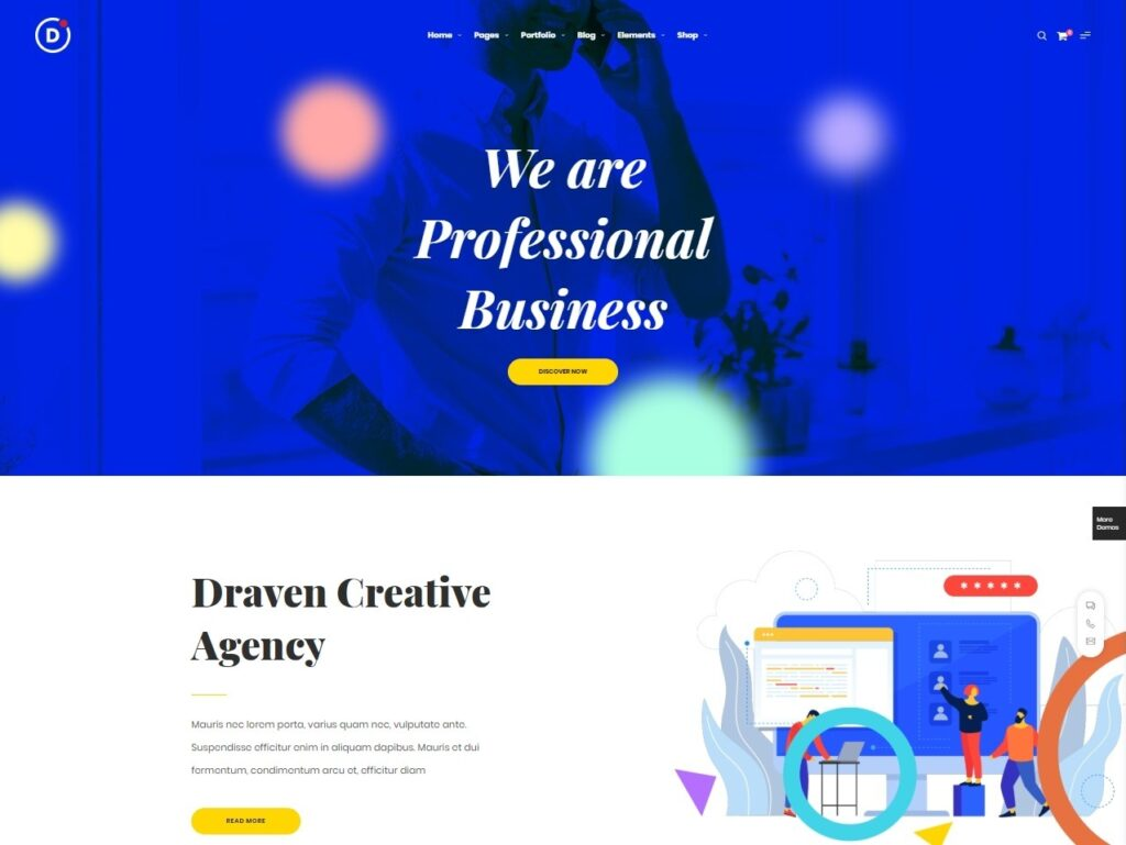 Draven Creative Multipurpose WordPress Parallax Theme